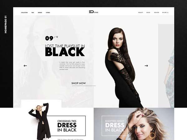 Free Psd Web Template Fashion Store Wp Gaint Freebies