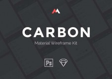 Carbon-Material-Wireframe-UI-kit