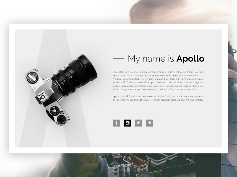Free PSD Photography Related Web Template – Apollo – wp gaint freebies